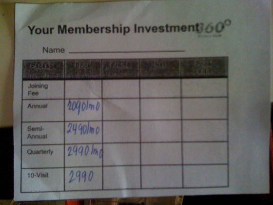 360 fitness club rates